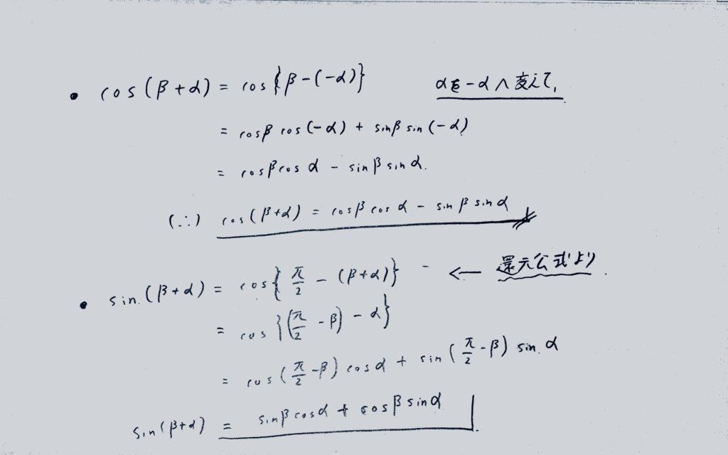 加法定理の証明2
