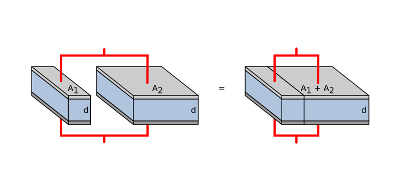 コンデンサーの並列接続