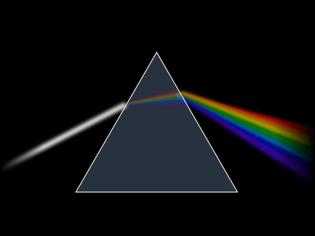 プリズムによる光