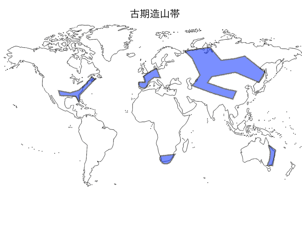古期造山帯(概要図)